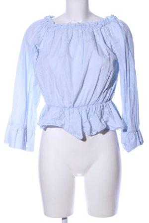 Uterqüe Langarm-Bluse blau Casual-Look
