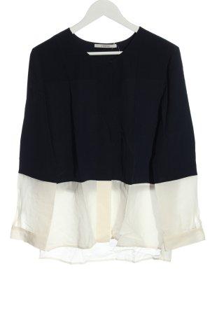 Uterqüe Camicia a maniche lunghe nero-bianco sporco stile casual