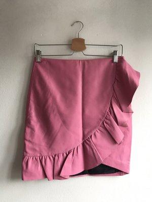Uterqüe Gonna in pelle rosa-rosa