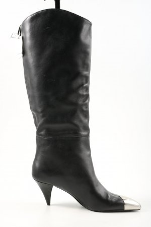 Uterqüe Schlüpf-Stiefeletten schwarz Elegant
