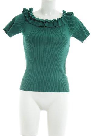 Uterqüe Top spalle scoperte verde-verde bosco elegante
