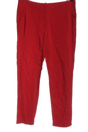 Uterqüe Pantalone jersey rosso stile casual