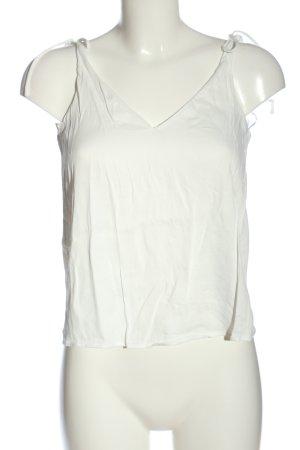 Uterqüe Canotta a bretelle bianco stile casual