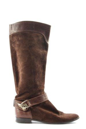 Uterqüe Wide Calf Boots brown casual look