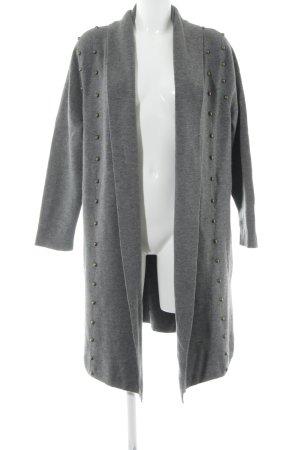 Uterqüe Giacca di lana grigio stile casual