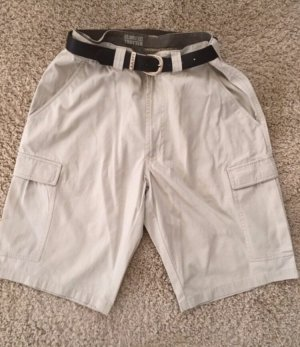 Pantalone a 3/4 bianco sporco-beige chiaro