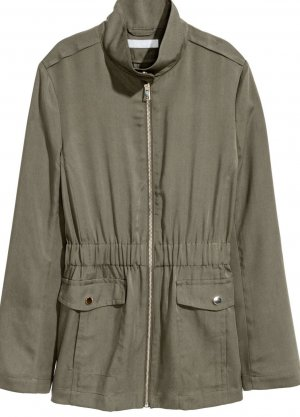 H&M Conscious Collection Military Jacket multicolored