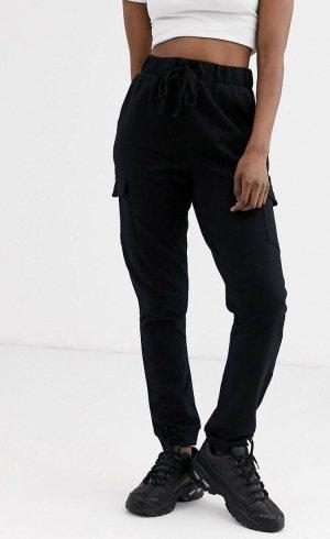 ASOS DESIGN Pantalon cargo noir coton