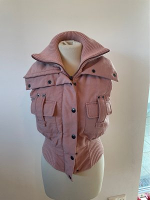 Sexy Woman Quilted Gilet dusky pink