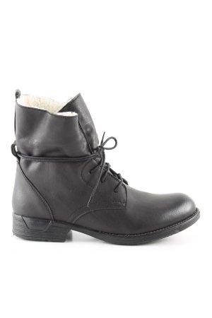 UTS Accessoires Bottes à lacets noir style décontracté