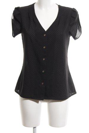Uttam Boutique Kurzarm-Bluse schwarz Elegant