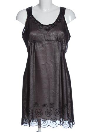 Uttam Boutique Minikleid schwarz-silberfarben Casual-Look