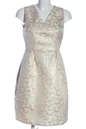 Uttam Boutique Minikleid weiß-goldfarben Allover-Druck Elegant