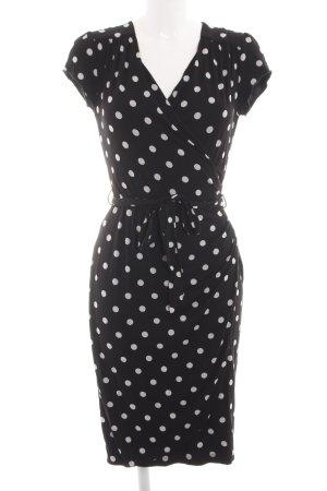 Uttam Boutique Robe tube noir-blanc motif de tache style d'affaires