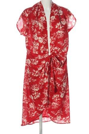 Uttam Boutique Wraparound red-cream allover print elegant