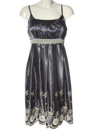 Uttam london Robe de soirée noir-blanc cassé élégant