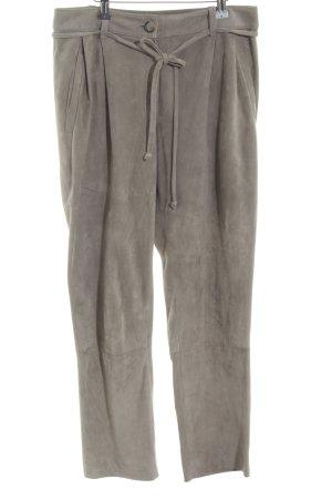 UTZON Pantalon en cuir bronze style décontracté