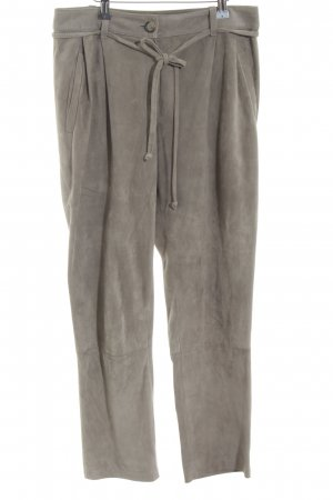 UTZON Pantalone in pelle bronzo stile casual