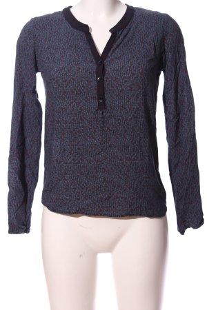 uvr connected Camicia a maniche lunghe blu-marrone stampa integrale stile casual