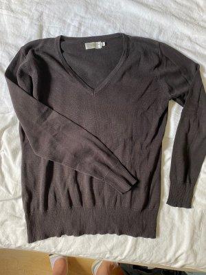 V-Ausschnitt Pullover Basic schwarz