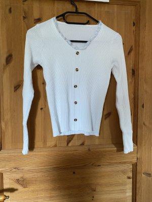 Sheinside V-Neck Sweater white