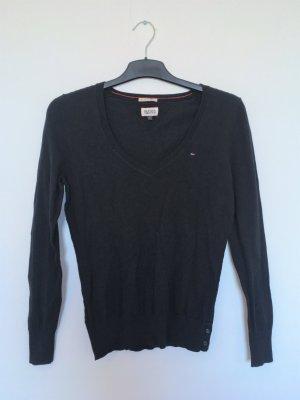 V-Ausschnitt Pullover S mit Details