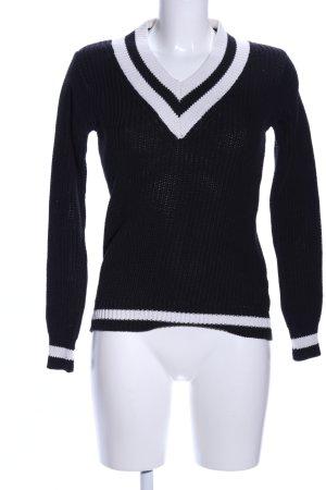 V-halstrui zwart-wit zakelijke stijl
