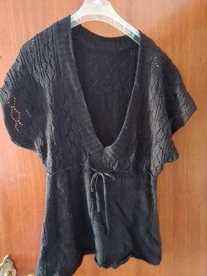 keine Sweter bez rękawów z cienkiej dzianiny czarny