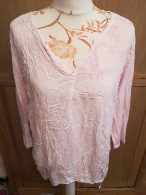 V-Ausschnitt shirt 3/4 Arm rose