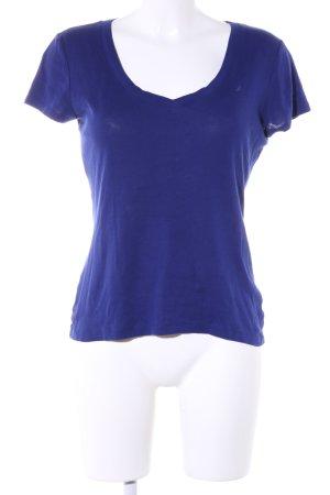 V-Ausschnitt-Shirt blau Casual-Look