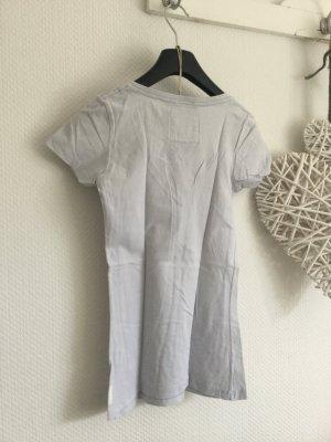 V Ausschnitt Shirt Hellblau Größe S