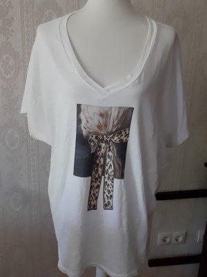 V-hals shirt veelkleurig Katoen