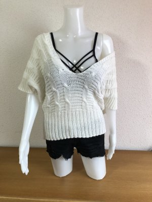0039 Italy Short Sleeve Sweater natural white-white
