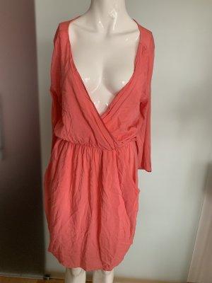 V-Ausschnitt Wickel Look Kleid Gr 38 M von Herrlicher