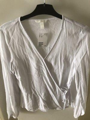 V-Bluse zum binden