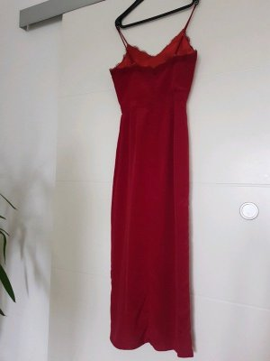 Babydoll-jurk rood-bordeaux Gemengd weefsel