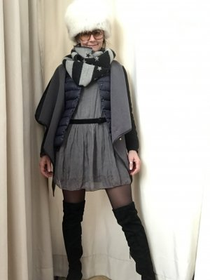 V Milano Blusenkleid grau Elegant