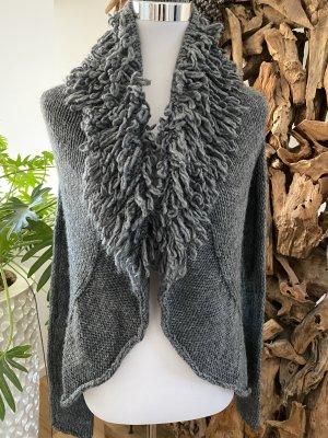 V Milano Coarse Knitted Jacket dark grey