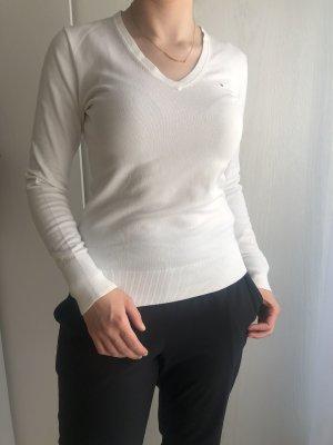 Tommy Hilfiger V-Neck Sweater white cotton