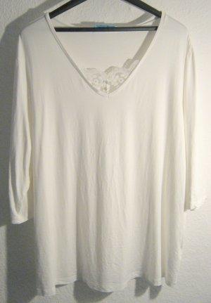 V-Neck Shirt Spitze Weiß HIMMELBLAU Lola Paltinger Größe 50