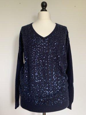 Zapa V-Neck Sweater dark blue polyamide