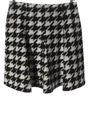 Va bene Flared Skirt light grey-black allover print casual look