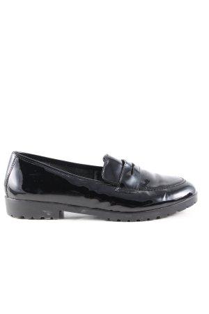Va bene Zapatos formales sin cordones negro Cuero