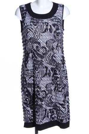 Va bene schulterfreies Kleid schwarz-weiß abstraktes Muster Elegant