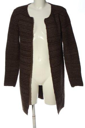 VA Milano Cardigan marrone motivo a righe stile casual