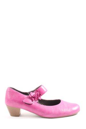 VA Milano Chaussure à talons carrés rose style décontracté