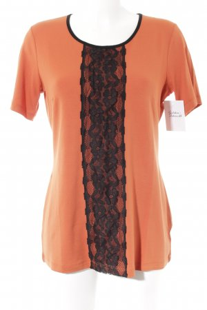 VA Milano Longshirt schwarz-orange Casual-Look