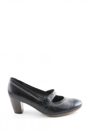 VA Milano Mary Jane Pumps schwarz-weiß Casual-Look