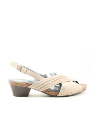 VA Milano Plateauzool sandalen wolwit casual uitstraling
