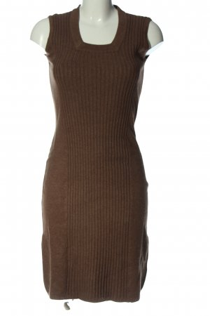VA Milano Pulloverkleid bronzefarben Streifenmuster Casual-Look